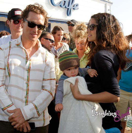 Matthew McConaughey, Camila Alves and Son Levi at MaliBLUE Art & Music Festiva